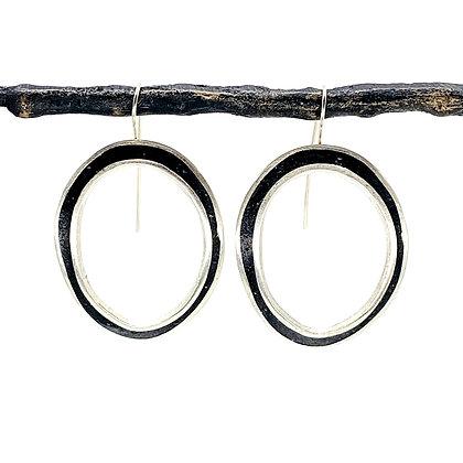 Black Resin Hoops