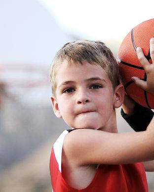 Boy Throwing Basketball