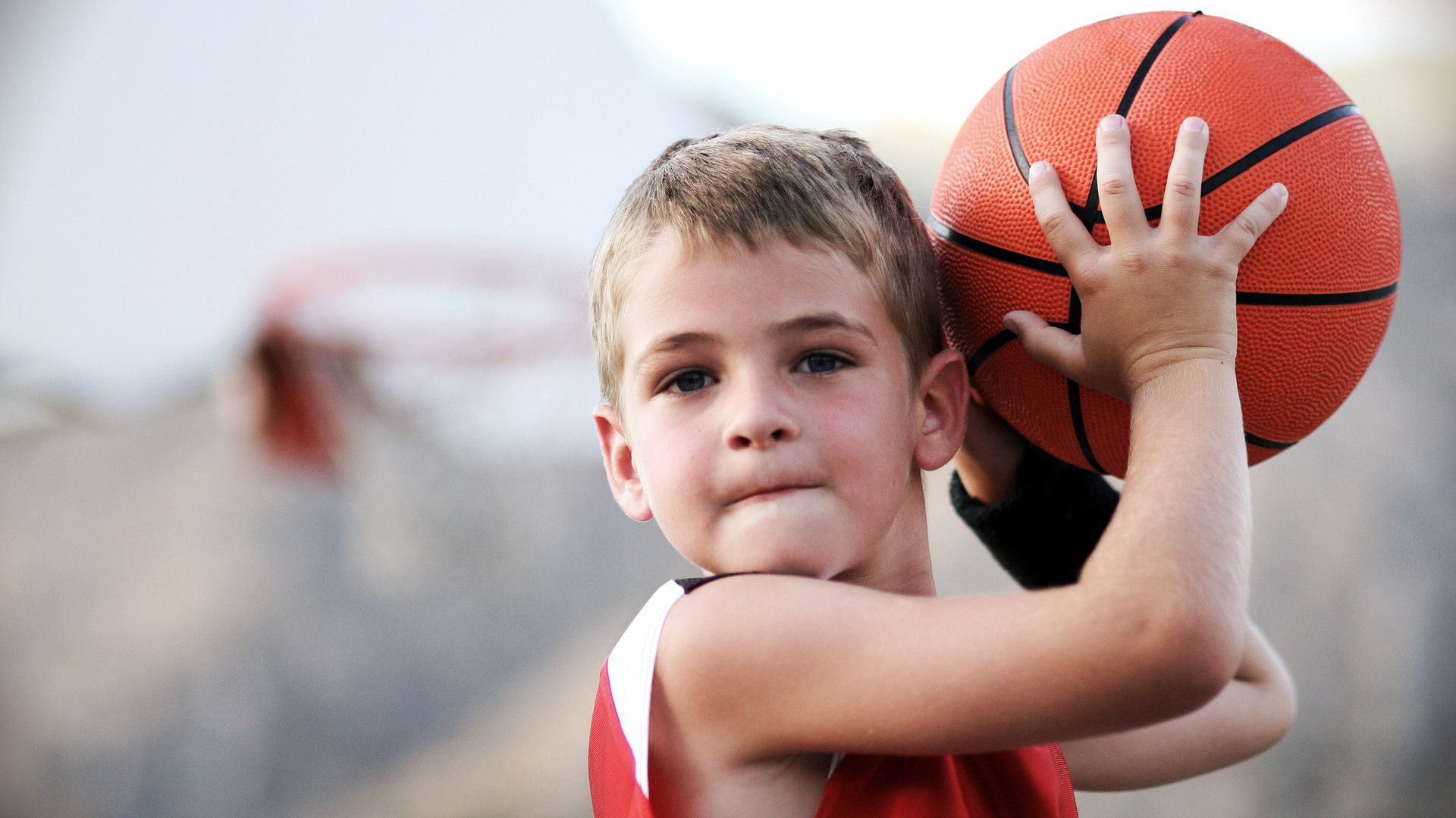 Boy Throwing Basketball