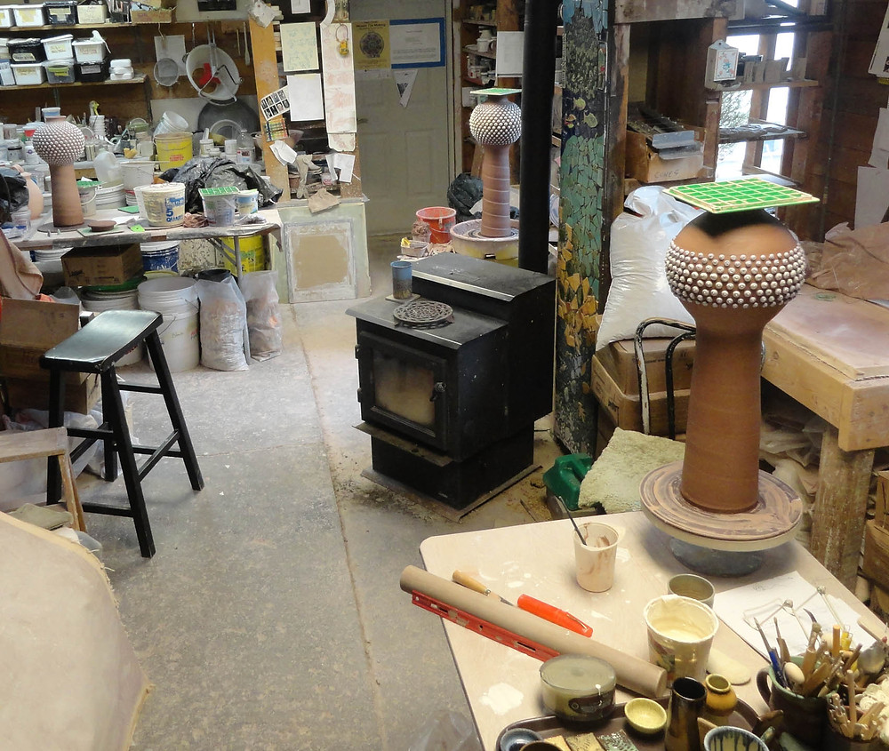 Young's Studio and Gallery, Clay Studio in the Adirondacks