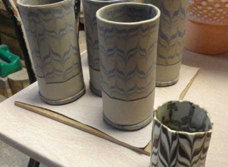 Neriage week in the clay studio