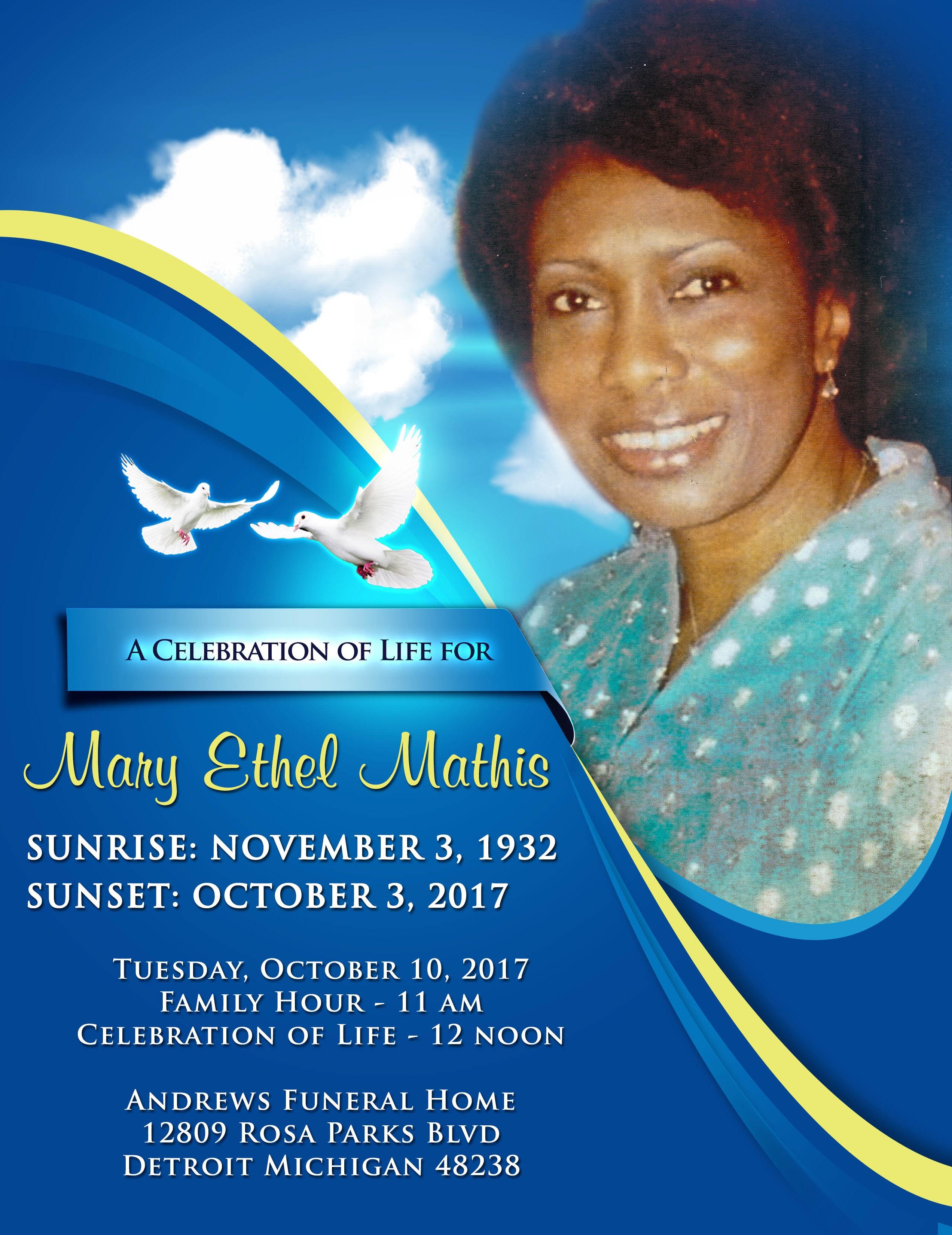 Mary Ethel Mathis (outside)
