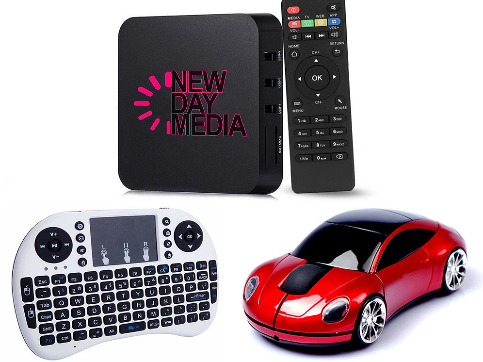 Media Package: Includes Media Box, Remote, Keyboard & Mouse