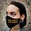 "Thumbnail: ""FCK GOVT FCK BORIS"" Black Denim Mask Women's Size"