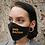 "Thumbnail: ""END RACISM"" Black Denim Mask Women's Size"