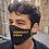 """Thumbnail: """"CONTROLA VIRUS"""" Black Denim Mask Men's Size"""