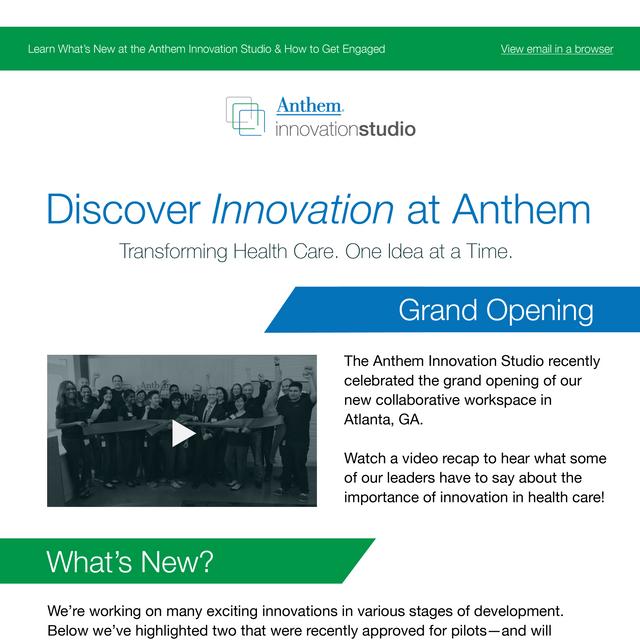 Anthem Email Newsletter