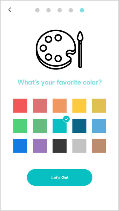 Color Selection Screen