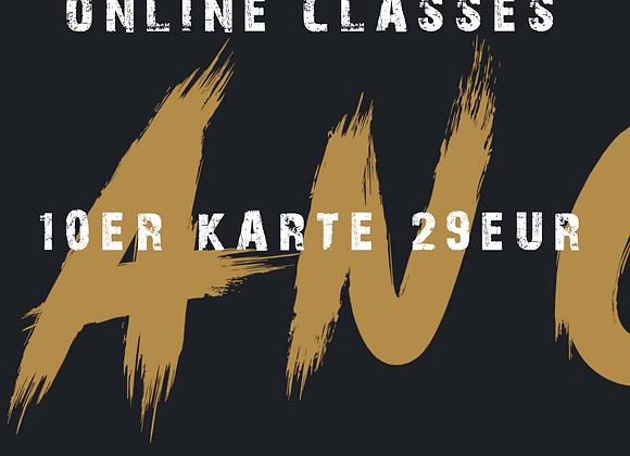 10er KARTE ONLINE CLASSES ANGEBOT