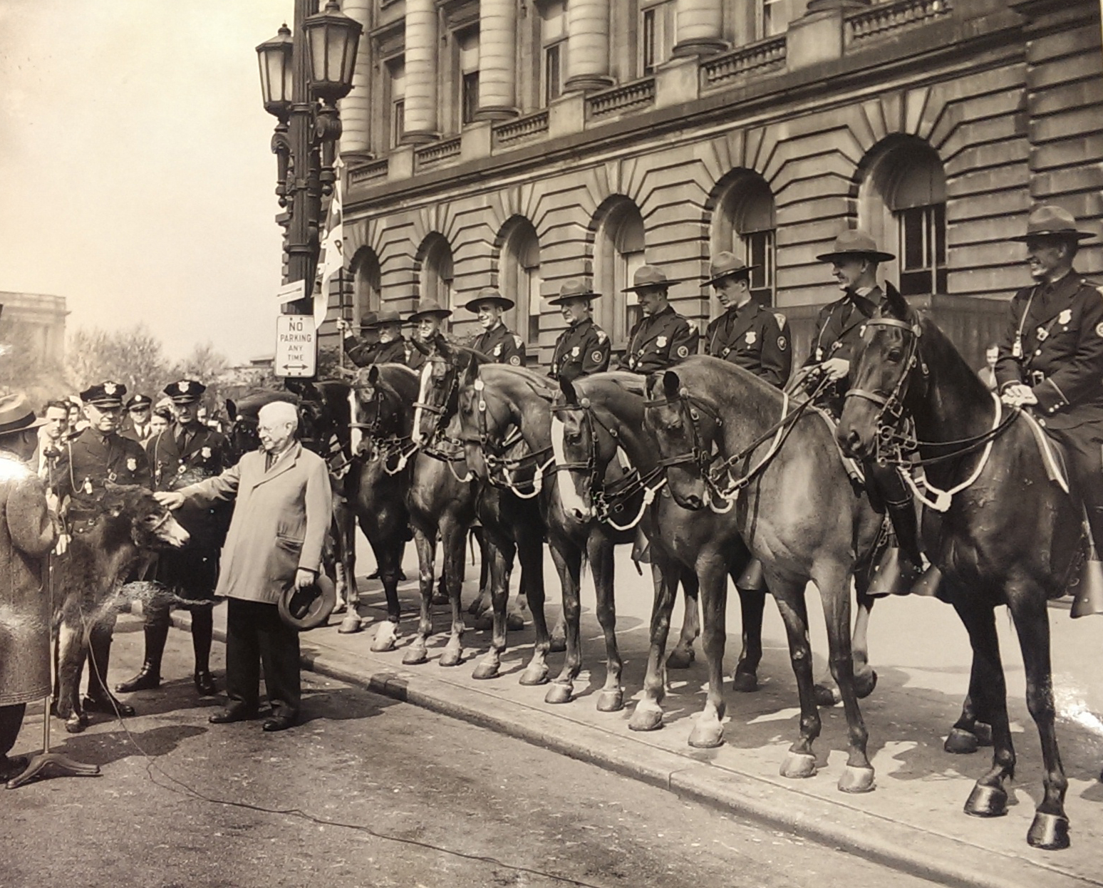 Frank Celebresse and Charlie Otis with Mounted Unit 1948