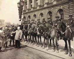 Frank Celebresse and Charlie Otis with Mounted Unit 1948