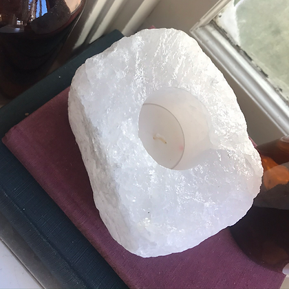 White Quartz Candle Holder #3
