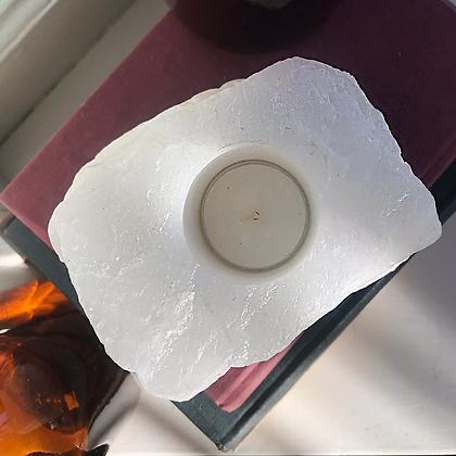White Quartz Candle Holder #1