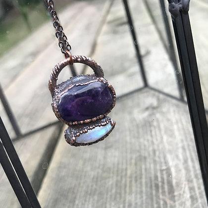 Amethyst & Moonstone Necklace