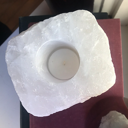 White Quartz Candle Holder #2