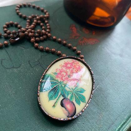 Vintage Ohio Buckeye Necklace