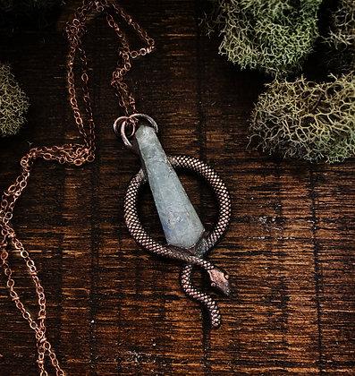 Green Fluorite Snake Necklace