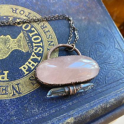 Rose Quartz & Clear Quartz Necklace