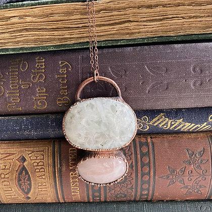 Solar & Rose Quartz Necklace