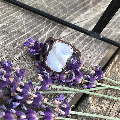 Moonstone & Amethyst Ring