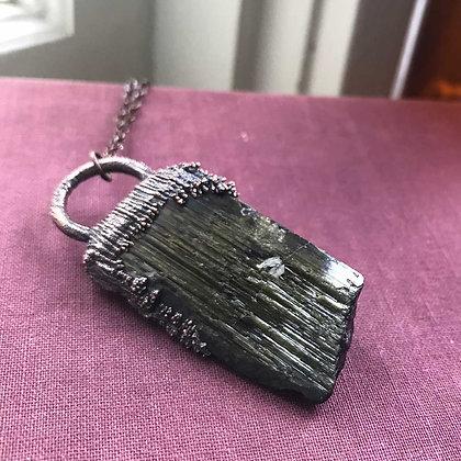 Black & Green Tourmaline Necklace