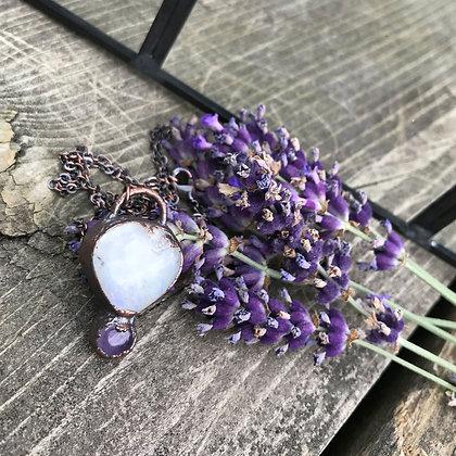 Moonstone & Amethyst Necklace