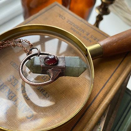 Labradorite & Garnet Necklace