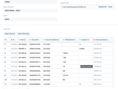 Redesigning Bank Reconciliation in ERPNext