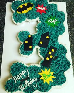 Pull Apart Batman Cupcake Cake