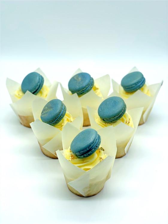 Lemon Blueberry Mac Cupcakes