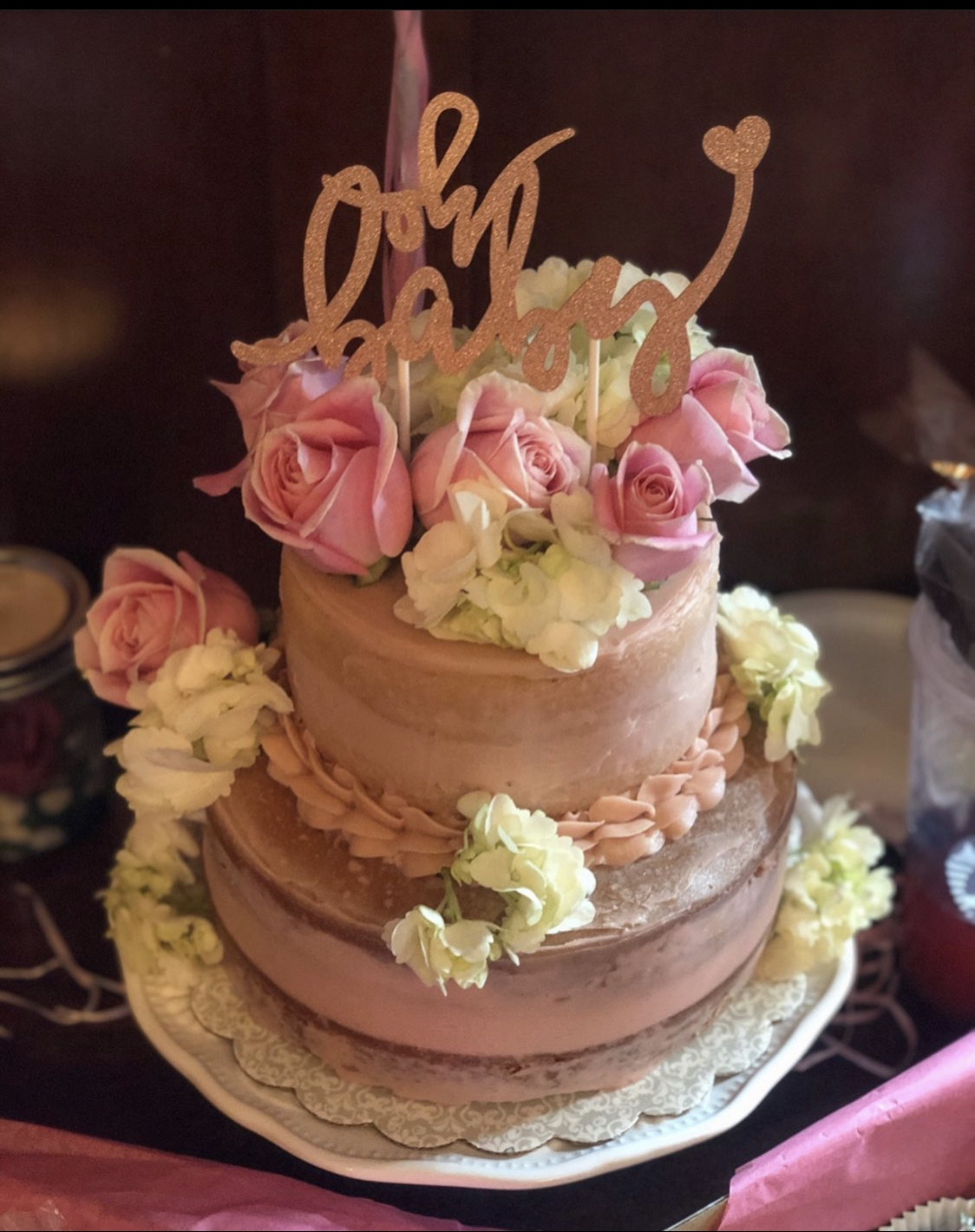 Naked Baby Shower Cake