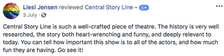 Central (Story) Line facebook review 5.p