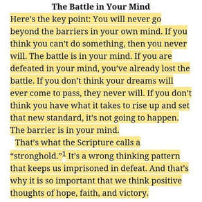 The Battle in Your Mind