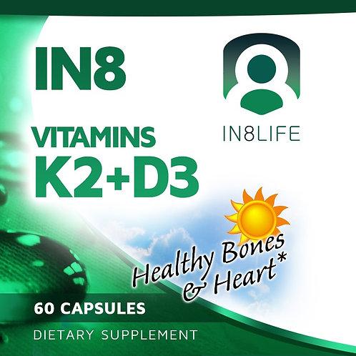 IN8 Vitamins K2+D3