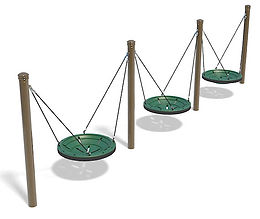 3 Bay Multi-User Playground Swing Set