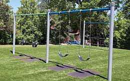 2 Bay 8ft Single Playground Post Swing Set