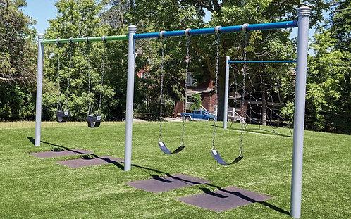 2 Bay 8ft Single Post Swing