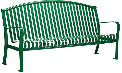 Vista Superior Series Green Bench with Back