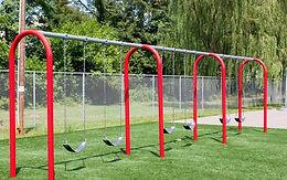 3 Bay 8 Foot Playground Arch Swing Set