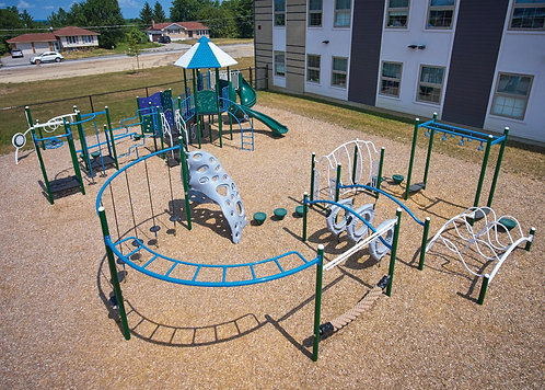 PlaySteel FIT Playground Structure - Model B306616