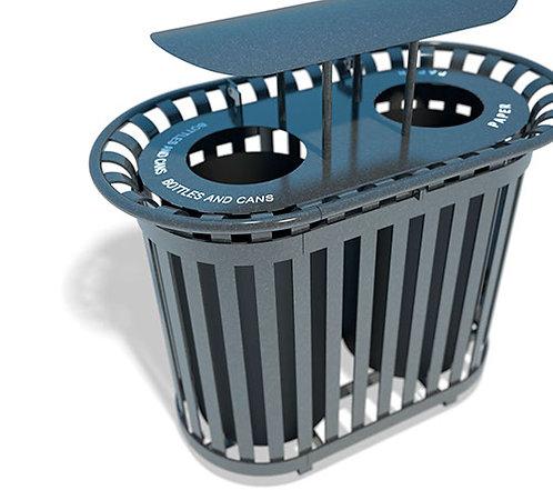 Recycling Receptacle - Model RU001-RS-AL