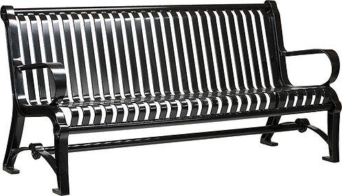 Vista Huron Series Bench - Black, Model HV6