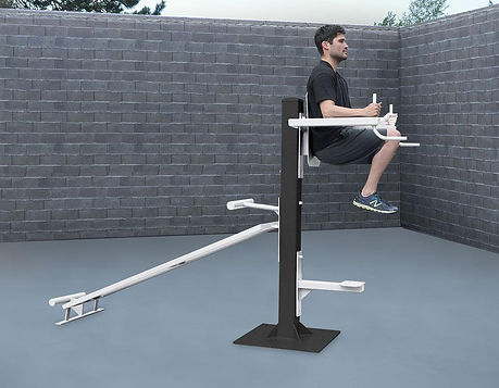 StayFIT  SuperMAX Vertical Knee Raise and Decline Sit Up Station