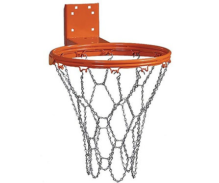 Commercial-Grade Basketball Hoop with Chain Net