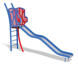 5′ Wavy Stainless Playground Slide