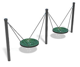 2 Bay Multi-User Playground Swing Set