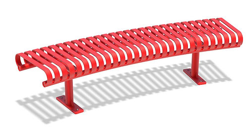 Vista Superior Series Red Curved Backless Bench