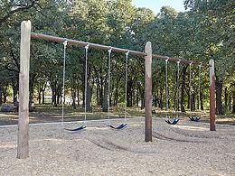 Tree Post Nature Playground Swing