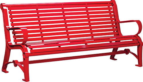 Vista Huron Series Bench - Red, Model HH6