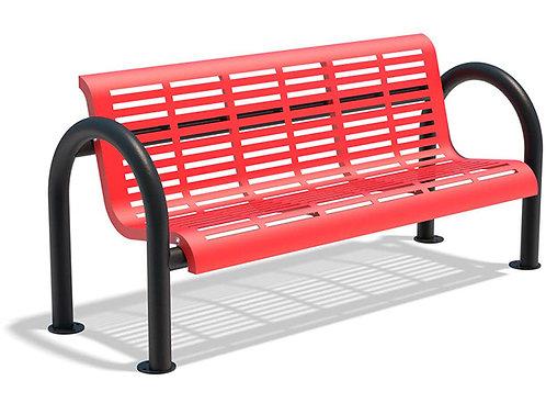 Vista Niagara Series Bench - Red, Model NLH6